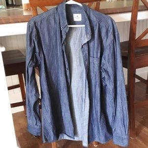 New long sleeve Haggar Chambray shirt